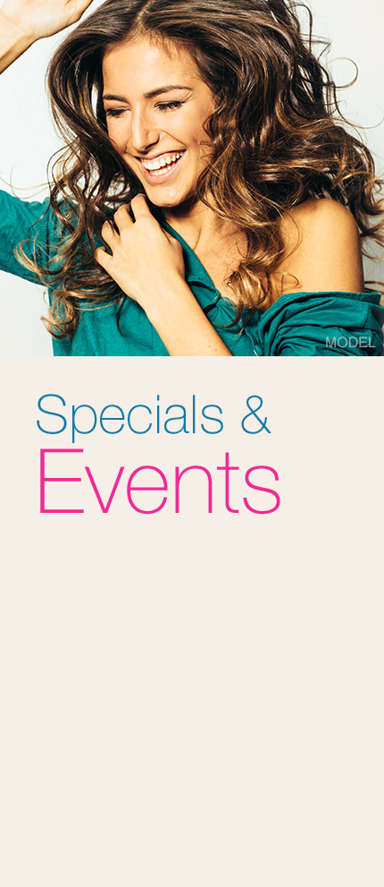 Specials & Events Model Smiling