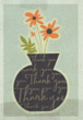 flower pot thank you card